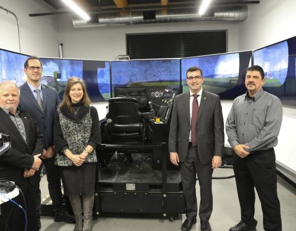 Premier simulateur minier au CFP Val-d'Or